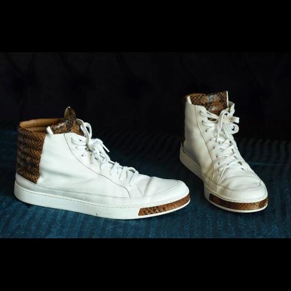 d23c3af545c Gucci Other - Gucci python snake skin white leather hi top